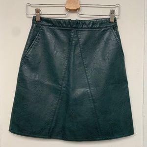Zara Basic short skirt - Fake Leather Size XS